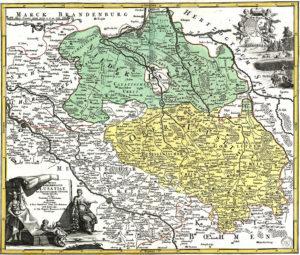 Mapa Łużyc zXVIII wieku